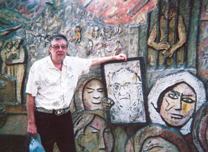 Father Bob Williams of Anderson recently traveled to Central America on a pilgrimage to shrines of martyrs of the Salvadoran Civil War. Among those remembered on The Monument to Memory and Truth in El Salvador is Archbishop Oscar Romero. (Photo provided)