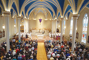 The annual Chrism Mass was celebrated April 11 at the Cathedral of St. Mary of the Immaculate Conception.