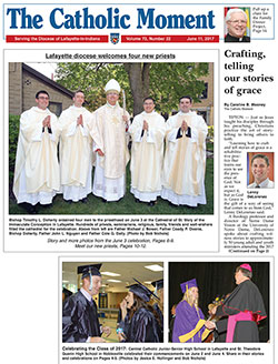 Current front page of The Catholic Moment